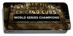 Wrigley Field Sign - Vintage Portable Battery Charger
