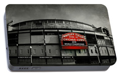 Wrigley Field Portable Battery Charger by Stephen Stookey