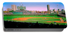 Wrigley Field  Portable Battery Charger by Tom Jelen