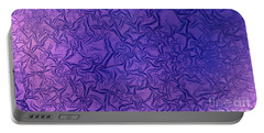 Purple Wrinkles Portable Battery Charger