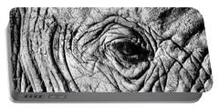 Wrinkled Eye Portable Battery Charger by Douglas Barnard