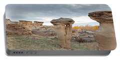 Portable Battery Charger featuring the photograph Writing On Stone Park by Fran Riley