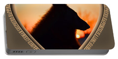 Wuffstar Happiness Is A Long Haired German Shepherd Heart Portable Battery Charger