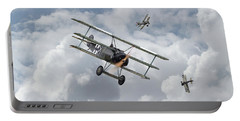 Portable Battery Charger featuring the photograph Ww1 - Fokker Dr1 - Predator by Pat Speirs