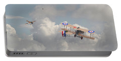 Portable Battery Charger featuring the photograph Ww1 - The Fokker Scourge - Eindecker by Pat Speirs