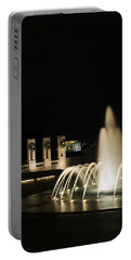 Portable Battery Charger featuring the photograph Wwii Memorial Fountain by Angela DeFrias