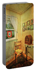 Portable Battery Charger featuring the photograph Wwii Era Room by Lewis Mann