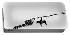 Wyoming: Cattle, C1920 Portable Battery Charger