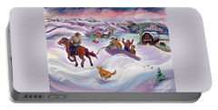 Wyoming Ranch Fun In The Snow Portable Battery Charger
