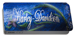 Harley Davidson 2 Portable Battery Charger by Wendy Wilton