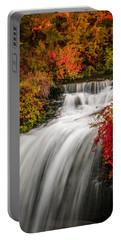 Fall At Minnehaha Falls Portable Battery Charger