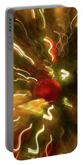 Portable Battery Charger featuring the photograph Xmas Burst 3 by Rebecca Cozart
