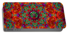 Portable Battery Charger featuring the digital art Xmas by Robert Orinski