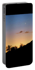 Y Cactus Sunset Moonrise Portable Battery Charger