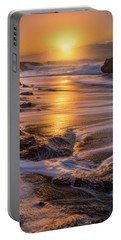Portable Battery Charger featuring the photograph Yachats' Sun by Darren White