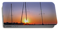 Portable Battery Charger featuring the photograph Yacht Club Sunrise by Judy Vincent