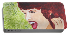 Portable Battery Charger featuring the painting Yah by Sandy McIntire