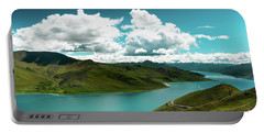 Portable Battery Charger featuring the photograph Yamdrok Lake The Himalayas Tibet Yantra.lv 2016  by Raimond Klavins