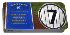 Yankee Legends Number 7 Portable Battery Charger by David Lee Thompson