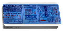 Portable Battery Charger featuring the drawing Yankee Stadium 1927 World Series Ticket Babe Ruth Game by Peter Gumaer Ogden
