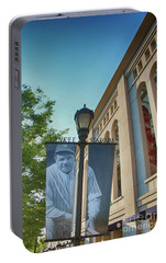 Yankee Stadium Babe Ruth Plaza Portable Battery Charger by Nishanth Gopinathan