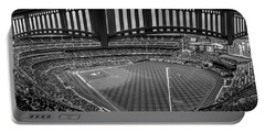 Yankee Stadium Black And White  Portable Battery Charger