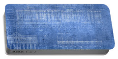 Yankee Stadium New York City Blueprints Portable Battery Charger by Design Turnpike