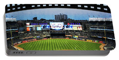 Yankee Stadium With Facade Portable Battery Charger by Nishanth Gopinathan