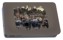 Portable Battery Charger featuring the photograph Yaquina Bay Boat Basin At Dawn by Thom Zehrfeld