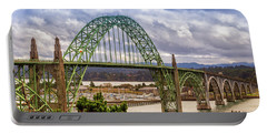 Portable Battery Charger featuring the photograph Yaquina Bay Bridge by James Eddy