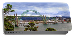 Yaquina Bay Bridge Panorama Portable Battery Charger