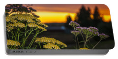 Yarrow At Sunset Portable Battery Charger