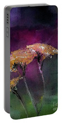 Yarrow In The Dark Painting Portable Battery Charger