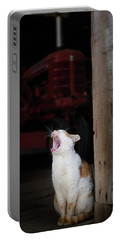 Yawning Barn Cat And Tractor Portable Battery Charger
