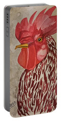 Year Of The Rooster 2017 Portable Battery Charger by Maria Urso