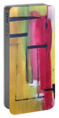 Yellow Abstract Portable Battery Charger