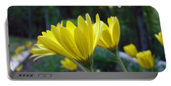 Yellow African Daisy Portable Battery Charger