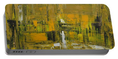 Yellow And Black Abstract Portable Battery Charger