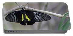 Yellow And Black Butterfly Portable Battery Charger