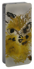 Portable Battery Charger featuring the drawing Yellow And Brown Cat by AJ Brown