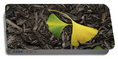 Yellow And Green Gingko Portable Battery Charger