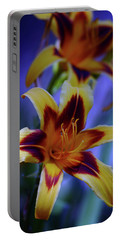 Yellow And Orange And Garnet Daylilies 1270 H_2 Portable Battery Charger