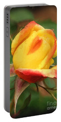 Yellow And Orange Rosebud Portable Battery Charger by Smilin Eyes  Treasures