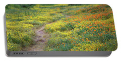 Yellow And Orange Wildflowers Along Trail Near Diamond Lake Portable Battery Charger