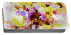 Portable Battery Charger featuring the painting Yellow And Pink Abstract Painting by Ayse Deniz