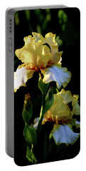 Yellow And White Irises 6681 H_2 Portable Battery Charger