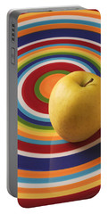 Yellow Apple  Portable Battery Charger