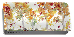 Portable Battery Charger featuring the painting Yellow Aspens by Dawn Derman