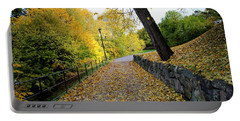 Yellow Autumn Portable Battery Charger