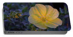 Portable Battery Charger featuring the photograph Yellow Beach Evening Primrose by Marie Hicks